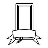 chiffre bulles de causerie de place avec l'icône de ruban Photos libres de droits
