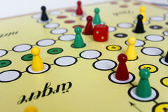 Chiffre chance de jeu de jeu de boardgame fâchée image libre de droits
