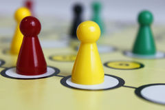 Chiffre chance de jeu de jeu de boardgame fâchée photographie stock
