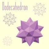 Chiffre composé de Dodecahedron-Icosahedron pour votre web design Images stock