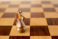 Chiffre d'échecs - chevalier noir Photo stock