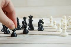 Chiffre d'échecs, stratégie de concept d'affaires Photographie stock libre de droits