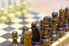 Chiffre d'échecs, stratégie de concept d'affaires, direction, équipe et succès Photo libre de droits