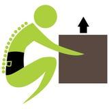 Chiffre d'épine de boîte de Lifitng illustration de vecteur