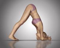 chiffre 3D femelle en position de yoga Photos stock