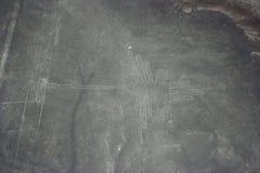 Chiffre d'oiseau aux lignes de Nazca vues de l'avion, lignes de Nazca, par Photo libre de droits