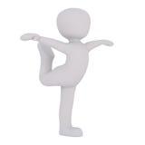 Chiffre danse de bande dessinée avec les bras tendus Images libres de droits