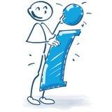 Chiffre de bâton avec grands I et infos Image libre de droits