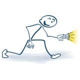 Chiffre de bâton avec la lampe-torche Image libre de droits