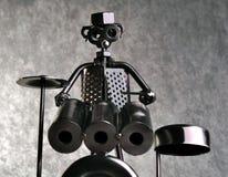 Chiffre de batteur fait de pièces en métal. Photo stock