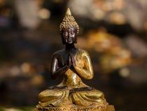 Chiffre de Bouddha illuminé par le soleil Photos stock