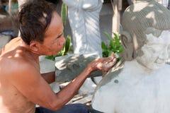 Chiffre de bouddhiste de restauration Images stock