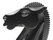 Chiffre de cheval d'échecs en métal illustration stock