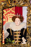 Chiffre de cire d'Elizabeth I image libre de droits