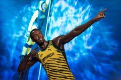 Chiffre de cire d'Usain Bolt au musée de cire de Madame Tussauds à Istanbul Photos libres de droits