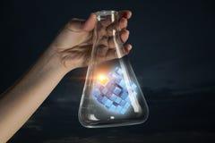 Chiffre de cube comme concept d'innovation Media mélangé Photographie stock