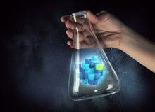 Chiffre de cube comme concept d'innovation Media mélangé Photo stock