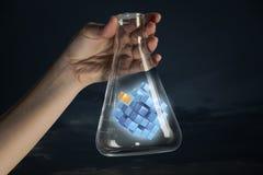 Chiffre de cube comme concept d'innovation Media mélangé Photos libres de droits