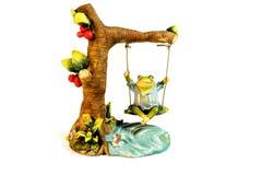 Chiffre de grenouille Chiffre décoratif d'une grenouille photographie stock