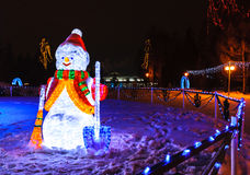 Chiffre de Noël de Santa Claus et de bonhomme de neige Image stock