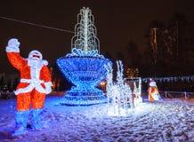 Chiffre de Noël de Santa Claus et de bonhomme de neige Images libres de droits
