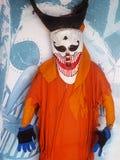 Chiffre de sculpture en monstre dans le foyer du musée d'art populaire de folklore de PHI-TA-KHON Photo stock