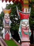 Chiffre de sculpture en monstre sur l'escalier au musée d'art populaire de folklore de PHI-TA-KHON Photos stock
