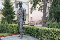 Chiffre de sculpture théâtre de Vampilov à Irkoutsk Photo libre de droits