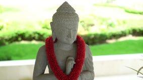 Chiffre de statue de Bouddha banque de vidéos