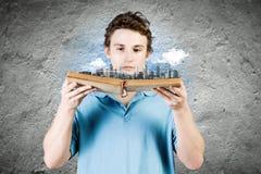 chiffre dimensionnel homme trois du beau livre 3d d'illustration très Photo libre de droits