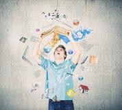 chiffre dimensionnel homme trois du beau livre 3d d'illustration très images stock