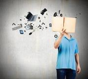 chiffre dimensionnel homme trois du beau livre 3d d'illustration très Photographie stock libre de droits