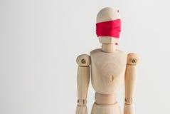 Chiffre en bois abat-jour d'homme avec le ruban rouge Images libres de droits