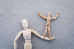 Chiffre en bois concept de soutien aux entreprises de jouets jpg Photo libre de droits