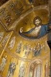 Chiffre en buste colossal du Christ dans la cathédrale de Monreale images stock