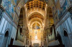 Chiffre en buste colossal du Christ dans la cathédrale de Monreale photographie stock