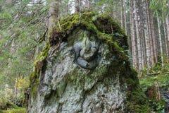 Chiffre en pierre en Autriche photos stock