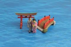 Chiffre en plastique du Japon sur un au sol de dos de blanc Images libres de droits