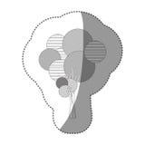 chiffre ensemble de timbre d'icône abstraite d'arbre Photo libre de droits