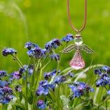 Chiffre et fleur d'ange Photographie stock libre de droits