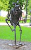 Chiffre forgé de pirate en parc, Donetsk photographie stock