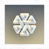 Chiffre géométrique impossible irréel, élément de vecteur Images stock