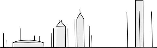 Chiffre horizon de bâton de Detroit illustration de vecteur