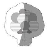 chiffre icône d'art d'arbre de timbre Image libre de droits