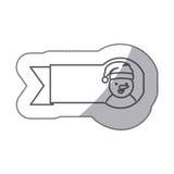 chiffre icône de bonhomme de neige de ruban d'autocollant Photo stock