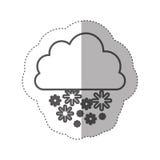 chiffre icône de chute de neige de nuage Photos libres de droits