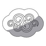 chiffre icône en spirale de nuage Photographie stock