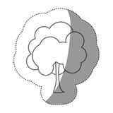 chiffre icône naturelle d'arbre de timbre Image libre de droits