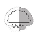 chiffre icône rainning de nuage Photos libres de droits