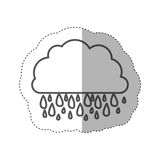 chiffre icône rainning de nuage Image stock